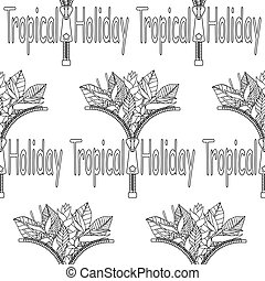 Tropical Holiday seamless pattern