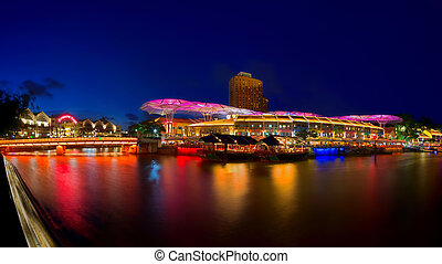 Clarke Quay Singapore - Colours at Clarke Quay, Singapore,...