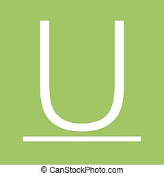 Underline, stroke, line icon vector image. Can also be used...