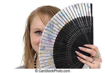 making look younger girl and fan - making look younger girl...