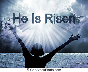 He is risen - Easter background with text he is risen