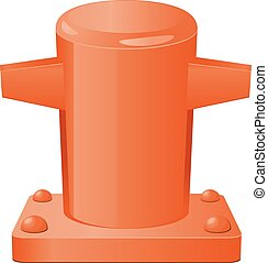 Web - Vector illustration of pier bollard