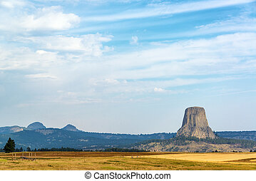 Devils Tower National Monument - View of Devils Tower...
