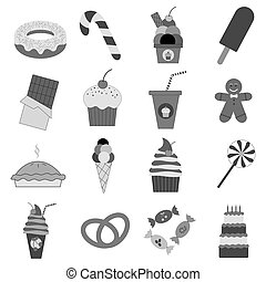 Food dessert icons set
