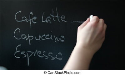 Template of Coffee-Shop Menu on the Chalkboard - Template of...