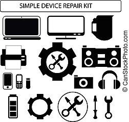 Simple device repair kit