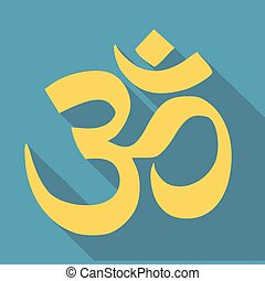 Om / Aum - symbol of Hinduism flat icon for apps and...