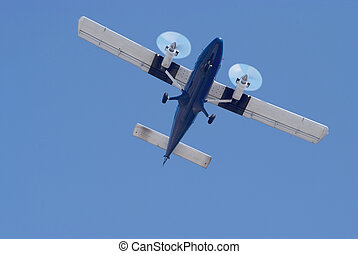 small twin engine airplane - small propeller twin engine...