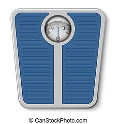 Bathroom weight scale on white background Vector...