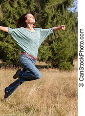 jumping with joy