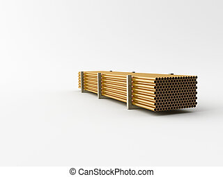 supply pipes - Metal mades Pipes on a white background