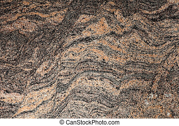 Surface of polished Granite Slab - close-up of beautiful...