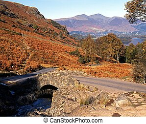 Ashness Bridge, Borrowdale - View of Ashness Bridge over...