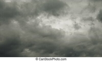 Dark stormy clouds time lapse - Dark stormy raining clouds...