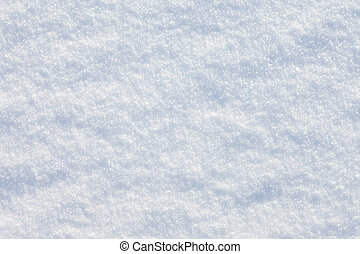 Fresh snow surface background, close-up, full frame -...