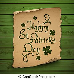 Happy St. Patricks Day background. - Happy St. Patricks Day...
