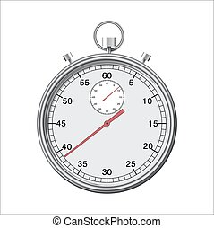 Stopwatch or chronometer - Stopwatch or chronometer isolated...