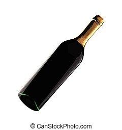 vector Bottle of wine