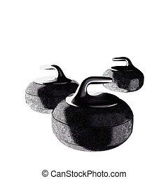 vector curling stones