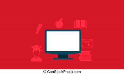 education icon design, Video Animation HD1080