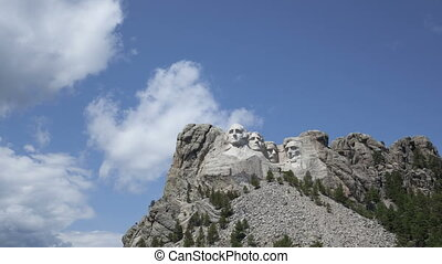 4K Time lapse Mt Rushmore Presidents - 4K Time lapse of the...