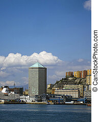 Genoa, Italy - Harbor in Genoa, Italy
