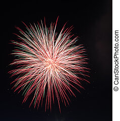Fireworks light up the sky with dazzling display