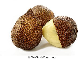 salak bali fruit on white background