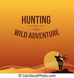 Hunting. Vector Poster