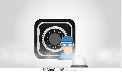 Finance security design, Video Animation HD1080