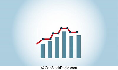 Statistics icon design, Video Animation HD1080