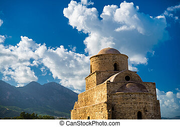 Agios (Saint) Evlalios Abandoned Church. Kyrenia District,...