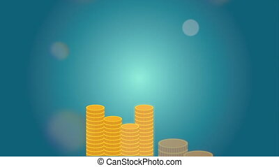 Finance icon design, Video Animation HD1080