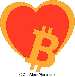 Bitcoin heart - Bitcoin lovers