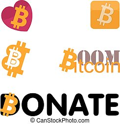 Bitcoin icon set