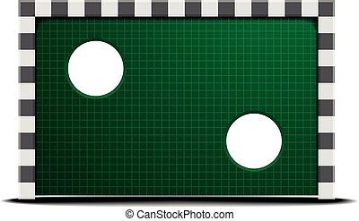 soccer training wall - detailed illustration of a soccer...