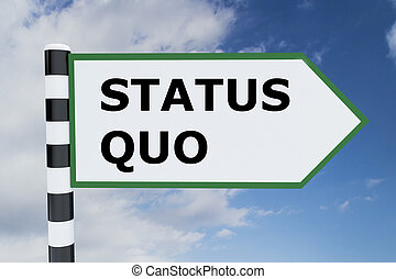 Status Quo concept - Render illustration of Status Quo title...