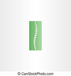 green healthy spine icon vector