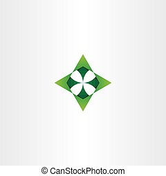 green arrows up down left right vector logo icon - green...