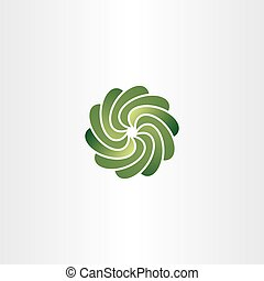 gradient green circle tech abstract logo icon vector