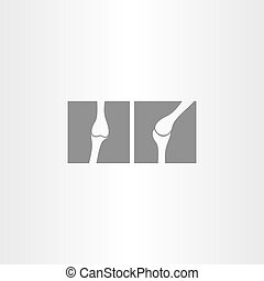 x ray bone vector icon design symbol