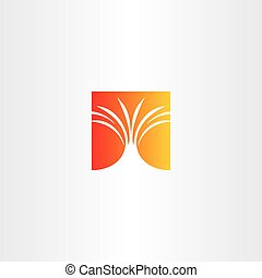 volcano eruption vector icon logo design