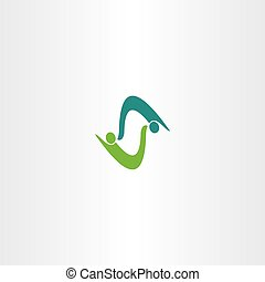 business people logo vector letter s symbol