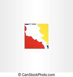 logo armenia map vector icon design