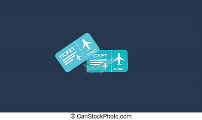 travel icon design, Video Animation HD1080