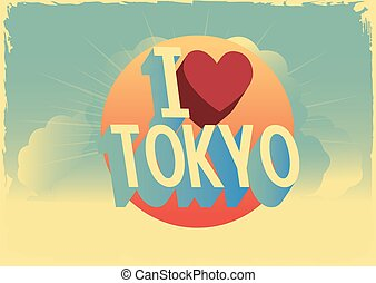 "retro style vector ""i love"" city postcard design"