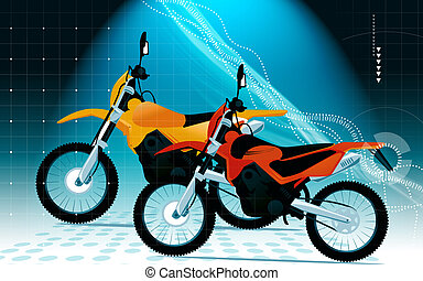 Motor sports	 - Two racing bikes in different colours