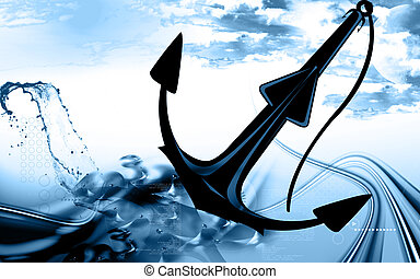 Anchor - Illustration of a symbol of anchor isolated