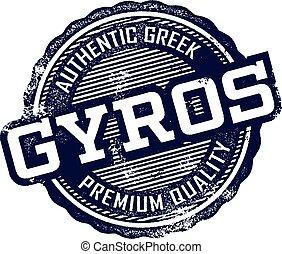 Greek Gyros Restaurant Sign - Premium quality Greek gyros