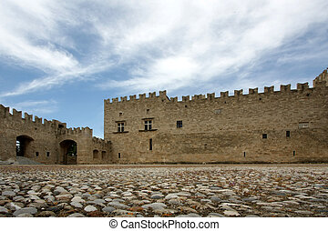 Fortress with stonyard
